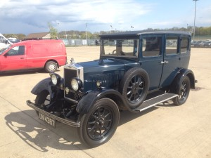 Adam Brown and Family's 1930 Morris Cowley Flatnose Saloon